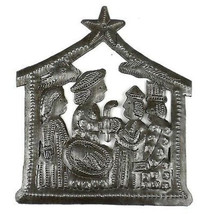 Small Recycled Steel Drum Nativity Scene - Croi... - $25.85