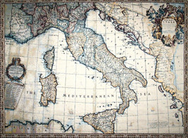 Ancient map of Italy Tapestry Wall Hanging - $94.85+