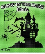 **Glow-In-The-Dark 14ct Aida 36x19 1/2 yd cross... - $30.00
