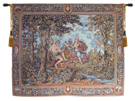 Autumn Grapes in Basket Tapestry Wall Hanging - $6.131,52 MXN