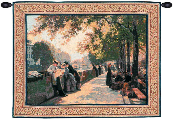 Bank of the River Seine I European Tapestry Wall Hanging
