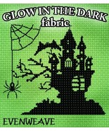 **Glow-In-The-Dark 28ct Evenweave 36x19 1/2yd cross stitch fabric Fabric... - $33.75