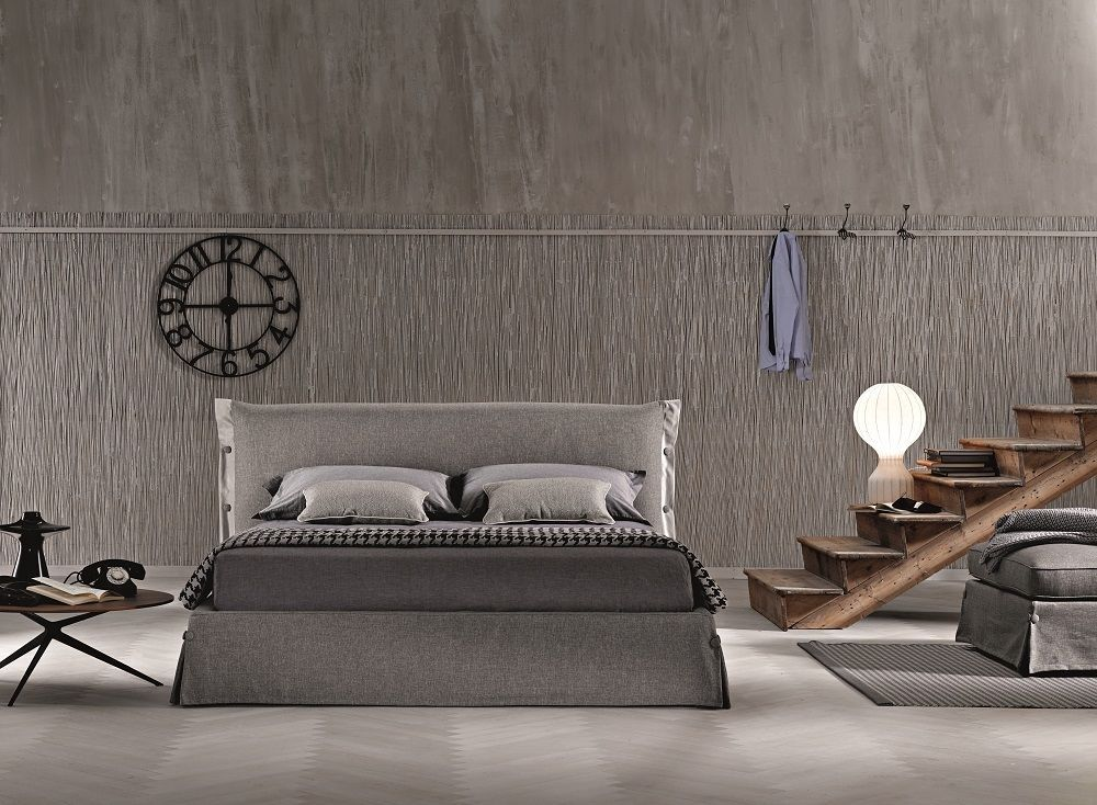J&M Giselle Storage Queen Size Platform Bed Contemporary Style MADE IN ITALY