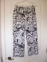 Harold's Sz 6 Black and White Pants Capri - $5.99