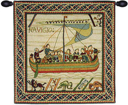 Duke Williams Ship 1A European Tapestry Wall Hanging - $220.85+