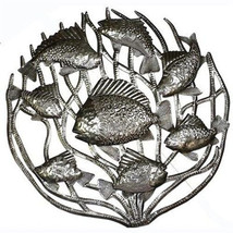 Fish in Coral Metal Wall Art 24-inch Diameter -... - $78.85 - $78.85