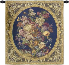 Floral Composition in Vase Dark Blue Tapestry Wall Art Hanging - $1.220,37 MXN+