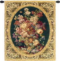 Floral Composition in Vase Green Tapestry Wall Art Hanging - $63.85+