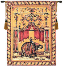Grotesque Elephant European Tapestry Wall Hanging - $441.85