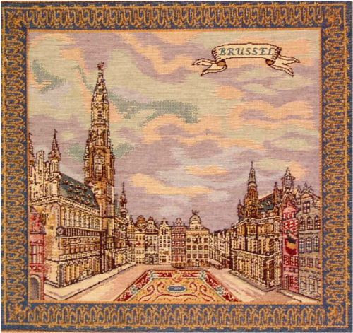 Grand Place Brussels Cushion