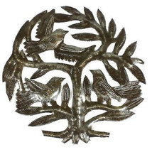 Haitian Steel Drum Tree of Life 8 inch Wall Art... - $29.85