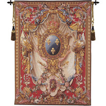 Grandes Armoiries Red European Tapestry Wall Hanging - $443.85+