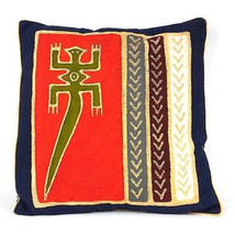 Handmade Red Lizard Batik Cushion Cover - Tonga Textiles - $34.85