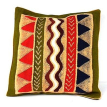 Handmade Geometric Water Batik Cushion Cover - Tonga Textiles - $62.85