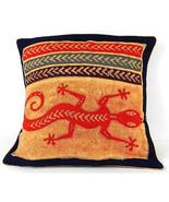 Handmade Colorful Lizard Cushion Cover - Tonga Textiles - $34.85