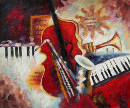 Instruments Of Music I Art Oil Painting - $78.85+