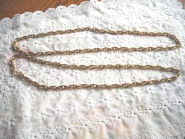 """Vintage MONET Heavy Gold Tone Double Link Chain Beautiful 55"""" Signed - $9.95"""