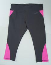 Calvin Klein Performance Capri Legging Quick Dry Gray Pink Workout Gym S... - $9.95