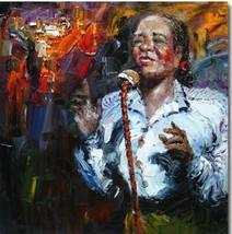 Lady Singer Art Oil Paintings - $197.85