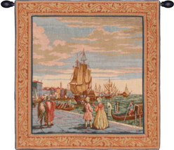 Lagoon Scene in Venice Tapestry Wall Art Hanging - $109.85