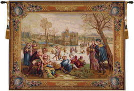 Les Patineurs I European Tapestry Wall Hanging - $445.85+