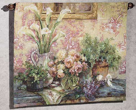 Les Fleurs D Wall Hanging Tapestry - $118.85