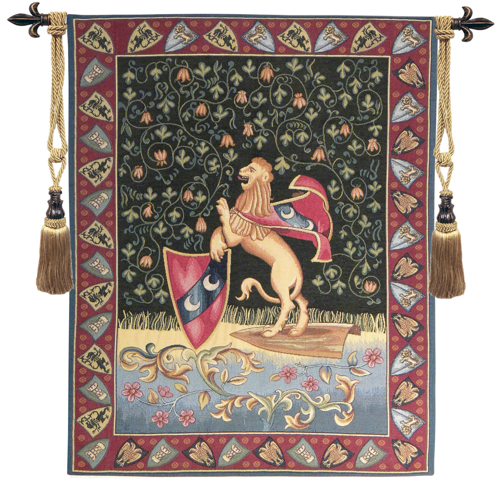 Lion Medieval Tapestry Wall Hanging