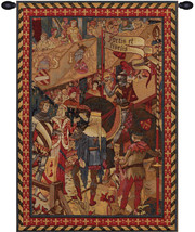 Le Tournai I Vertical European Tapestry Wall Hanging - $248.85
