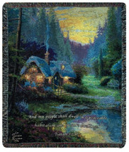 Meadowood Cottage w/Verse Wall Tapestry Afghans - $1.451,72 MXN+