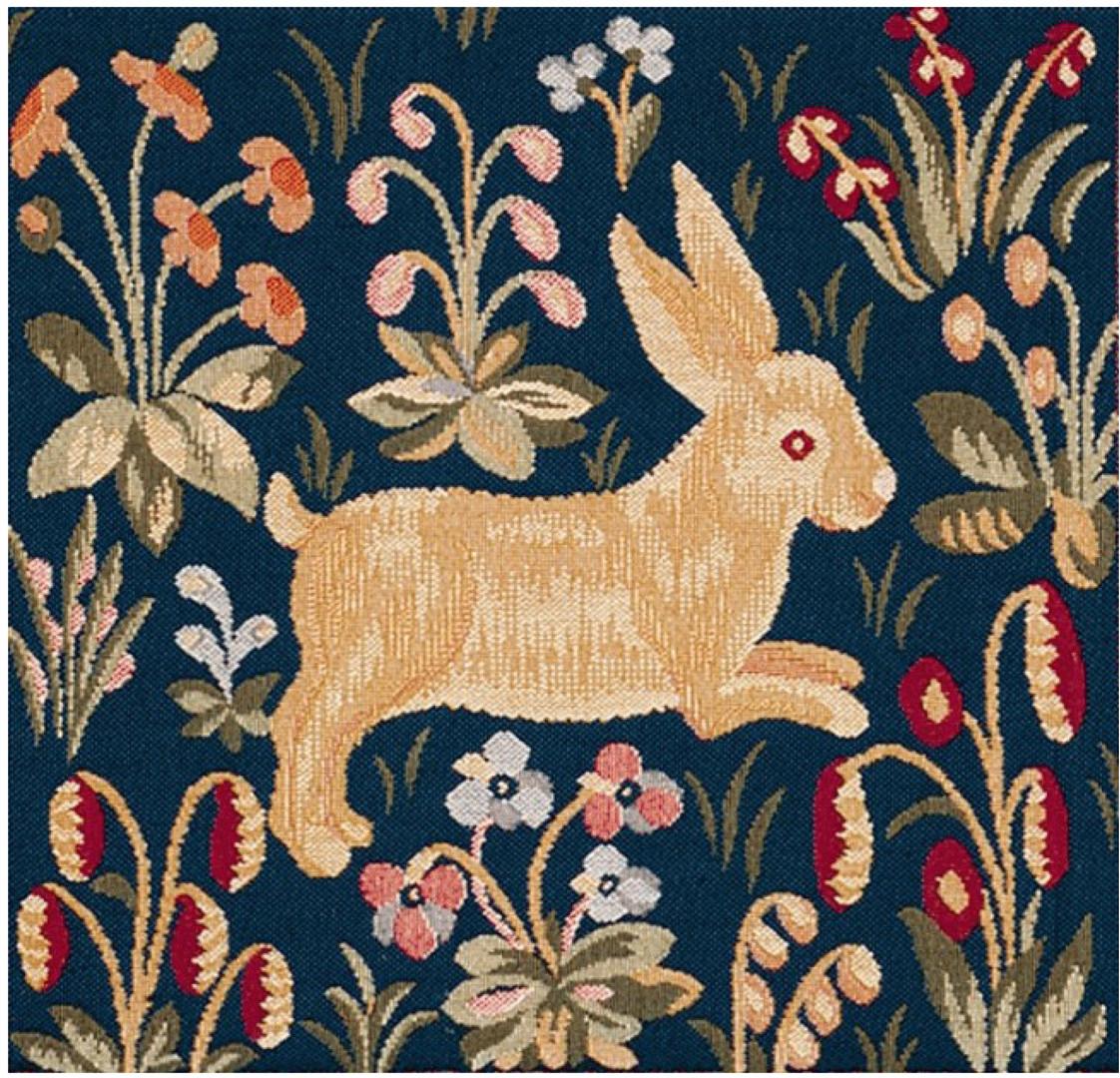 Medieval Rabbit Running European Cushion