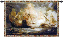 Naval Battle Tapestry Wall Art Hanging - $119.85