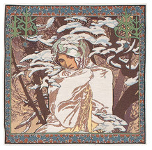 Mucha Winter I European Cushion Covers - $56.85
