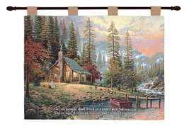 Peaceful Retreat w/Verse - Kinkade Tapestry Wall Hanging - $69.85+