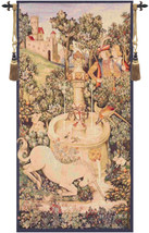 Portiere Licorne Fontaine European Tapestry Wall Hanging - $339.85