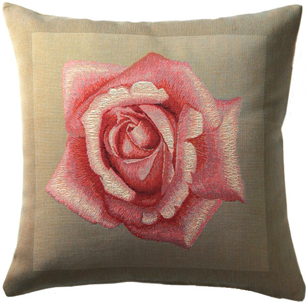 Rose Pink European Cushion