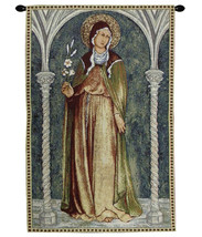 Saint Clare in Arch Tapestry Wall Hanging - $87.85+