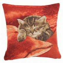 Sleeping Cat Red 2 European Cushion Cover - $57.85