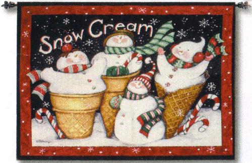 Snow Cream Christmas Tapestry of Fine Art