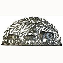 Steel Drum Art - Semi Circle Elephants - Croix des Bouquets - $104.85