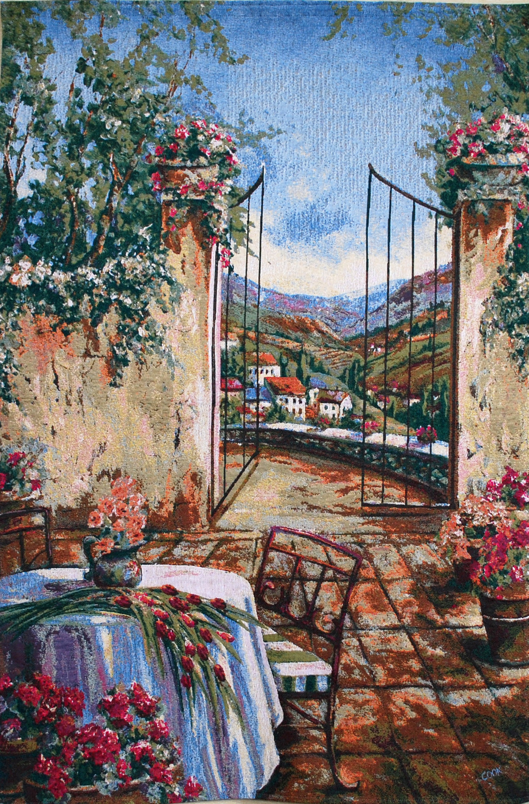 Table for Two I Tapestry Wall Hanging