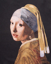 The Girl with the Pearl Earring I Tapestry Wall Hanging - $204.85