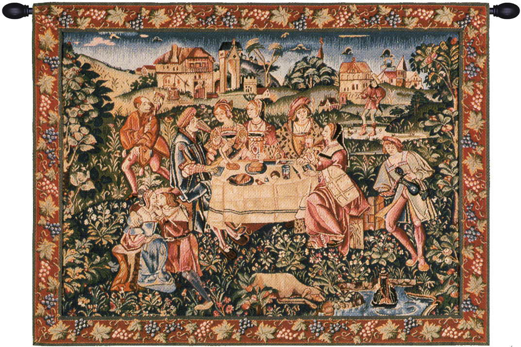 The Feast European Tapestry Wall Hanging