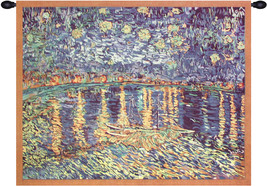 Van Goghs Starry Night Over the Rhone Tapestry Wall Art Hanging - $105.85+
