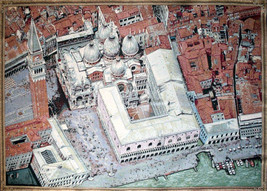 Venice from Above Tapestry Wall Hanging - $99.85+