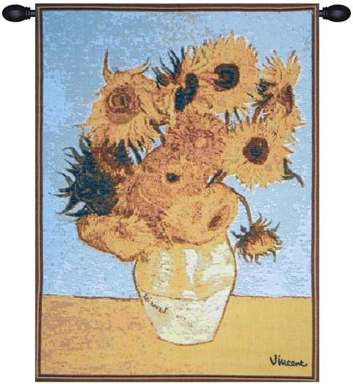 Van Gogh Sunflowers European Tapestry Wall Hanging
