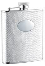 Visol Brilliance White Snakeskin Hip Flask - 6 oz - $24.85