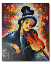 Violin Music Art Oil Painting - $78.85+