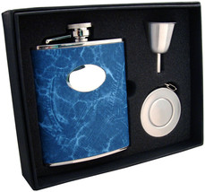 Visol Denim 6oz Blue Leatherette Stellar Flask Gift Set - €32,37 EUR