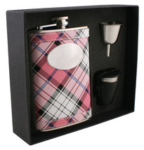 Visol Valor Pink Plaid 8oz Deluxe Flask Gift Set - €25,86 EUR+