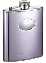 Visol Thistle Light Purple Leatherette Stainless Steel Hip Flask - 6oz - $24.85